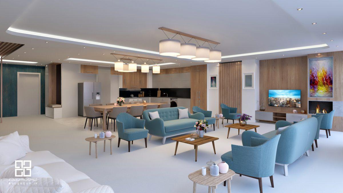 دکوراسیون داخلی و مبلمان آپارتمان امانی شیراز