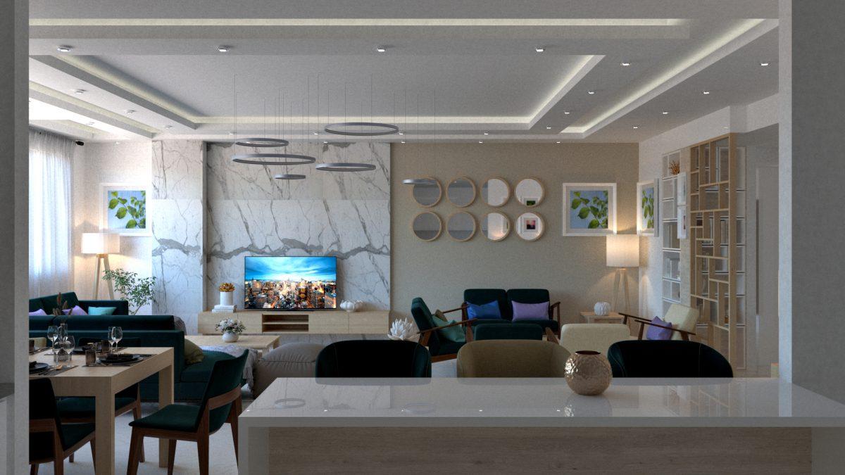 ی دکوراسیون داخلی آپارتمان خانواده رحیمی