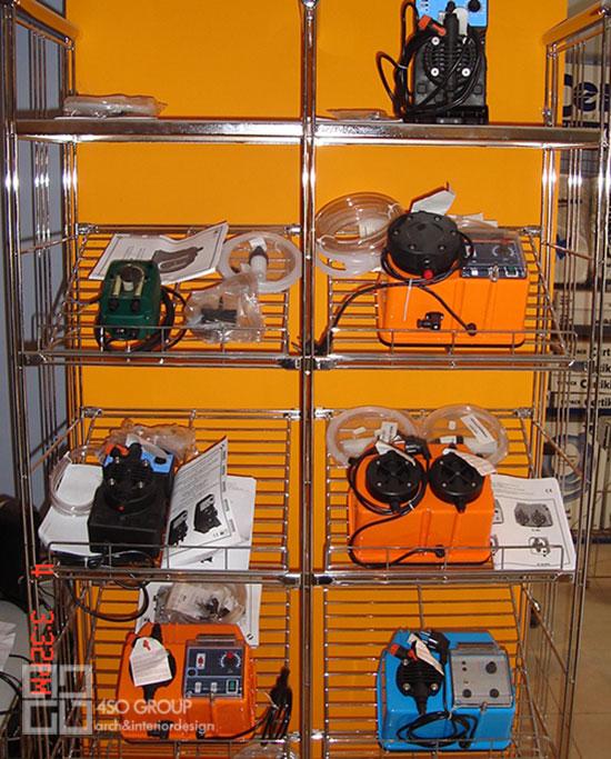 دکوراسیون مدولار فروشگاه تجهیزات صنعتی
