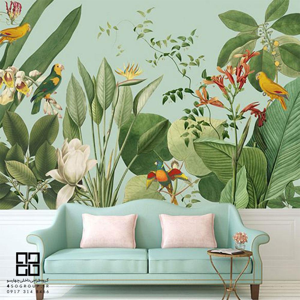 کاغذ دیواری یا رنگ در دکوراسیون داخلی